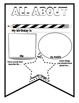 """Polka Dot """"All About Me"""" Back to School Class Pennants"""