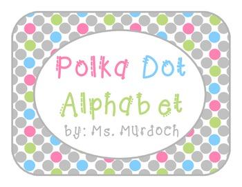 Polka Dot Alphabet