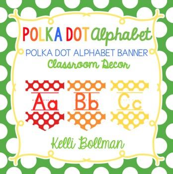 Polka Dot Alphabet Banner {Classroom Decor}