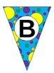 Polka Dot Alphabet Banner-Editable