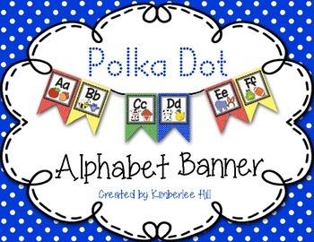 Polka Dot Alphabet Banner - Primary Colours