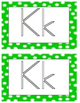 Polka Dot Playdough Alphabet Cards with Response Sheet