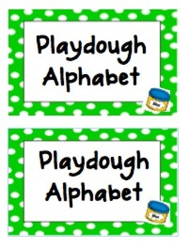Polka Dot Playdough Alphabet Cards with Response Sheet