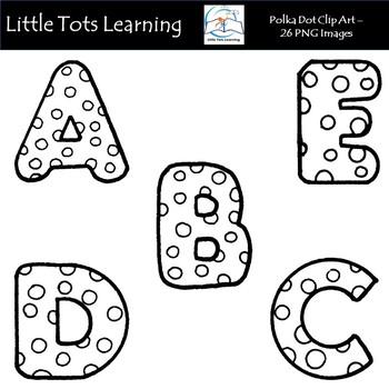 Polka Dot Alphabet Clip Art