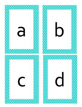 Polka Dot Alphabet Flashcards