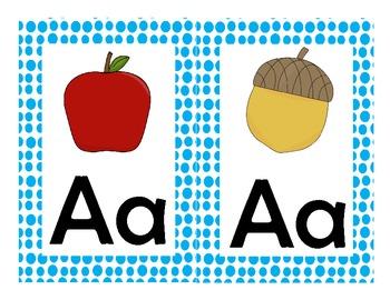 Polka-Dot Alphabet Half Sheets