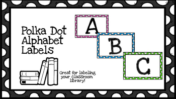 Polka Dot Alphabet Labels-Common Core leveled Library