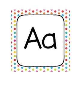 Polka Dot Alphabet Letters A-Z