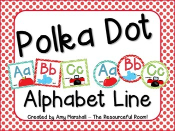 Polka Dot Alphabet Line