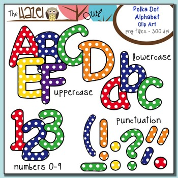 Polka Dot Alphabet MEGA Pack {Save $8.75 by Purchasing 5 Sets in 1!}