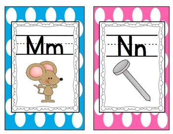 Polka Dot Alphabet (Matches Common Core Word Wall)