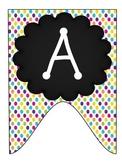 Alphabet Pennant--Polka Dot