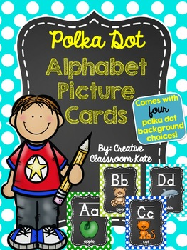 Polka Dot Alphabet Picture Cards