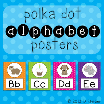 Polka Dot Alphabet Posters (Full-Page and Half-Page)