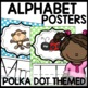 Polka Dot Alphabet Posters (Polka dot turquoise, pink, pur