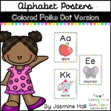 Polka Dot Alphabet Posters #freedomdeals