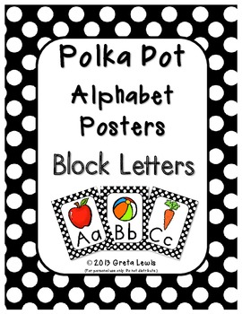 Polka Dot Alphabet Posters - Block Letters