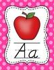 Polka Dot Alphabet Posters (D'Nealian)