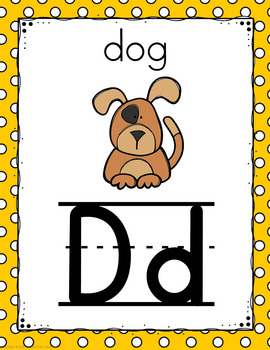 Polka Dot Alphabet Posters (Primary Dots)