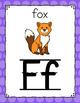 Polka Dot Alphabet Posters (Rainbow Big Dots)-Classroom Decor