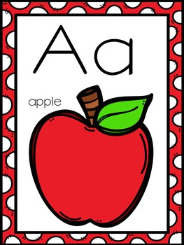 Polka Dot Alphabet Posters and More - EDITABLE Labels