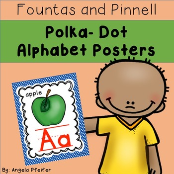 Alphabet Posters Fountas and Pinnell- Polka Dot
