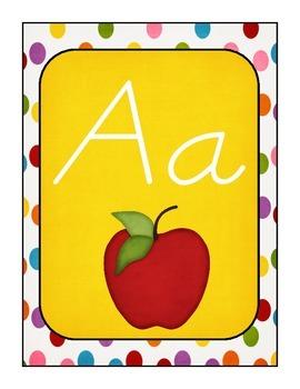 Polka Dot Alphabet Set