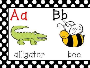 NEW Polka Dot Alphabet Strip