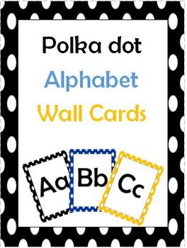Polka Dot Alphabet Wall Cards