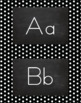 Polka Dot Alphabet Wall Cards Manuscript & Cursive - Black & White