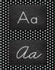 Polka Dot Alphabet Wall Cards Manuscript & Cursive - Black