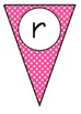 Polka Dot Alphabet and Number Pennants