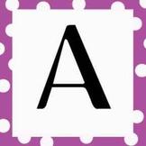 Polka Dot Alphabet for Word Wall