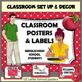 Classroom Set Up and Decor Polka Dot and Apple (middle and