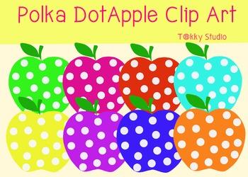 Polka Dot Apple Clip Art