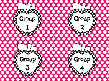 Polka Dot Apple Group Labels