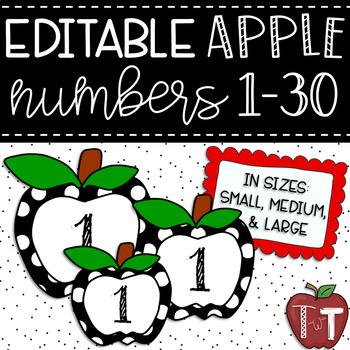 Polka Dot Apple Numbers