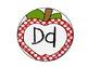 Polka Dot Apple Word Wall Headers