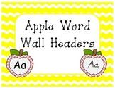 Polka Dot Apple Word Wall Headers DNealian included