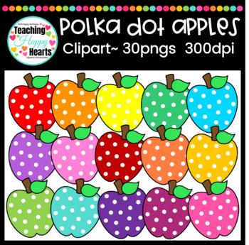 Polka Dot Apples Clipart