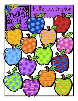 Polka Dot Apples {Creative Clips Digital Clipart}