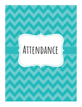 Editable Attendance Book - 8 Class Periods - PDF and Google Doc versions