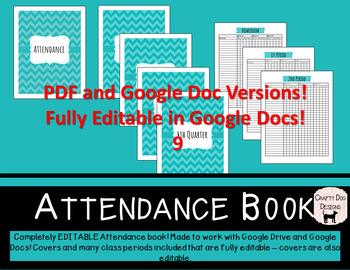 Polka Dot Attendance Book - 8 Class Periods