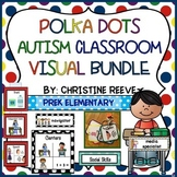 Polka Dot Autism Pre-K - Elementary Classroom Visual Bundle (special education)