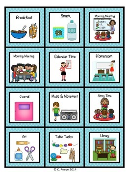 Polka Dot Autism Pre-K - Elementary Classroom Visual Bundle (special education)