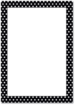 Polka dot bw page border by endless possibilities tpt polka dot bw page border voltagebd Images