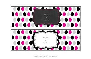 Polka Dot Baby Formula Can Labels- Editable