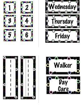 Polka Dot Back to School  Set