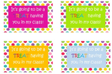 Polka Dot Back to School Treat Labels