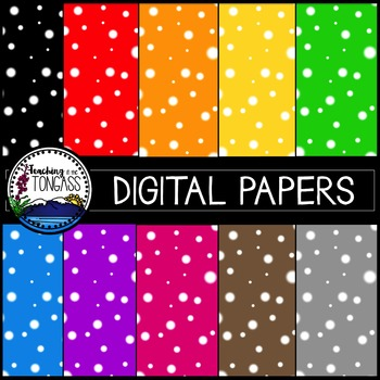 Polka Dot Background Papers Clipart Bundle